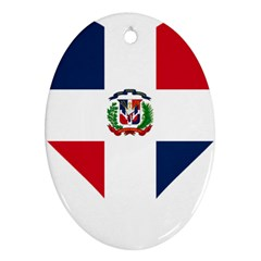 Heart Love Dominican Republic Ornament (oval) by Celenk