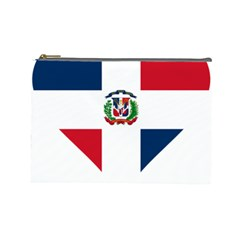 Heart Love Dominican Republic Cosmetic Bag (large)