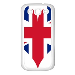Heart Love Heart Shaped Flag Samsung Galaxy S3 Back Case (white) by Celenk