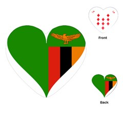 Heart Love Heart Shaped Zambia Playing Cards (heart)  by Celenk