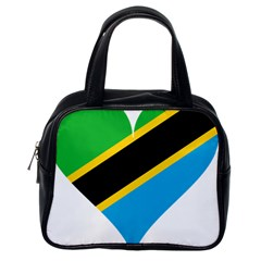 Heart Love Tanzania East Africa Classic Handbags (one Side)