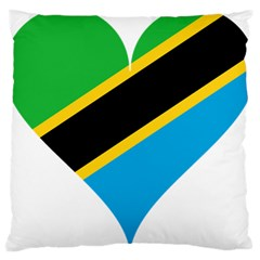 Heart Love Tanzania East Africa Large Cushion Case (two Sides)