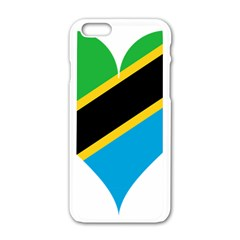 Heart Love Tanzania East Africa Apple Iphone 6/6s White Enamel Case by Celenk