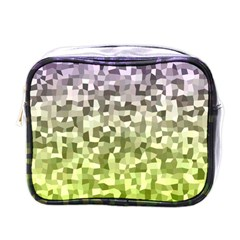 Irregular Rectangle Square Mosaic Mini Toiletries Bags by Celenk