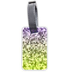 Irregular Rectangle Square Mosaic Luggage Tags (two Sides) by Celenk