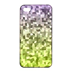 Irregular Rectangle Square Mosaic Apple Iphone 4/4s Seamless Case (black) by Celenk
