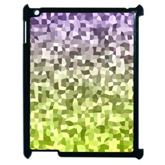Irregular Rectangle Square Mosaic Apple Ipad 2 Case (black) by Celenk