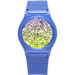 Irregular Rectangle Square Mosaic Round Plastic Sport Watch (s) by Celenk