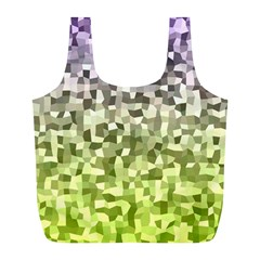 Irregular Rectangle Square Mosaic Full Print Recycle Bags (l)  by Celenk