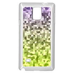Irregular Rectangle Square Mosaic Samsung Galaxy Note 4 Case (white) by Celenk