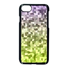 Irregular Rectangle Square Mosaic Apple Iphone 8 Seamless Case (black) by Celenk
