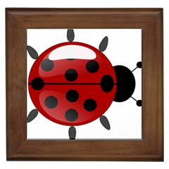 Ladybug Insects Colors Alegre Framed Tiles by Celenk
