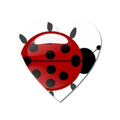 Ladybug Insects Colors Alegre Heart Magnet by Celenk