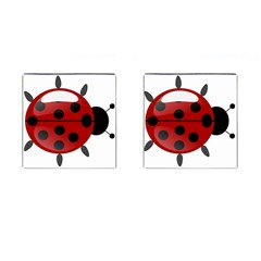 Ladybug Insects Colors Alegre Cufflinks (square) by Celenk