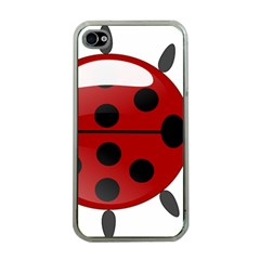 Ladybug Insects Colors Alegre Apple Iphone 4 Case (clear) by Celenk