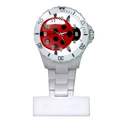 Ladybug Insects Colors Alegre Plastic Nurses Watch by Celenk
