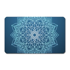 Mandala Floral Ornament Pattern Magnet (rectangular) by Celenk