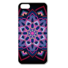 Mandala Circular Pattern Apple Seamless Iphone 5 Case (clear) by Celenk