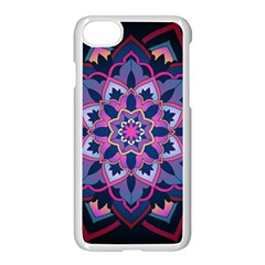 Mandala Circular Pattern Apple Iphone 8 Seamless Case (white) by Celenk