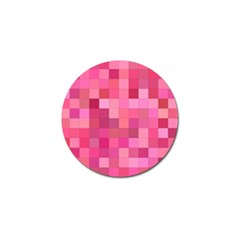 Pink Square Background Color Mosaic Golf Ball Marker (10 Pack) by Celenk