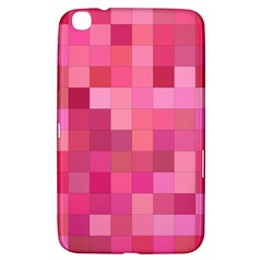 Pink Square Background Color Mosaic Samsung Galaxy Tab 3 (8 ) T3100 Hardshell Case  by Celenk