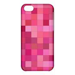 Pink Square Background Color Mosaic Apple Iphone 5c Hardshell Case by Celenk