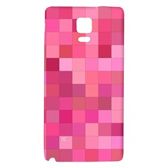Pink Square Background Color Mosaic Galaxy Note 4 Back Case by Celenk