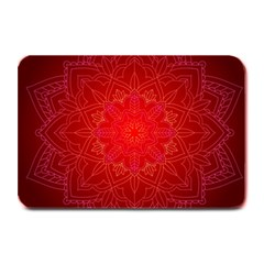 Mandala Ornament Floral Pattern Plate Mats by Celenk
