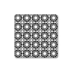 Pattern Seamless Monochrome Square Magnet