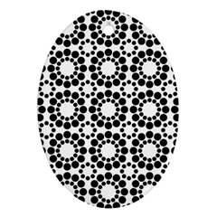 Pattern Seamless Monochrome Oval Ornament (two Sides) by Celenk