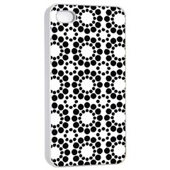 Pattern Seamless Monochrome Apple Iphone 4/4s Seamless Case (white)