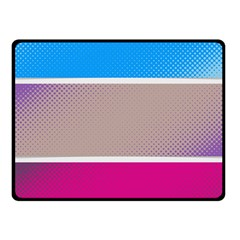 Pattern Template Banner Background Fleece Blanket (small) by Celenk