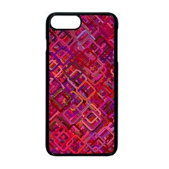 Pattern Background Square Modern Apple Iphone 7 Plus Seamless Case (black)