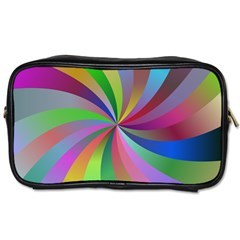 Spiral Background Design Swirl Toiletries Bags by Celenk