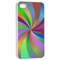 Spiral Background Design Swirl Apple Iphone 4/4s Seamless Case (white) by Celenk
