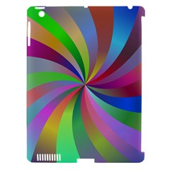 Spiral Background Design Swirl Apple Ipad 3/4 Hardshell Case (compatible With Smart Cover) by Celenk