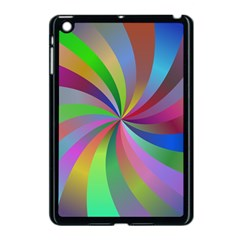 Spiral Background Design Swirl Apple Ipad Mini Case (black) by Celenk