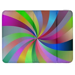 Spiral Background Design Swirl Samsung Galaxy Tab 7  P1000 Flip Case by Celenk