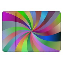 Spiral Background Design Swirl Samsung Galaxy Tab 8 9  P7300 Flip Case by Celenk