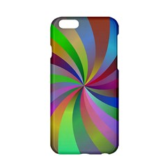 Spiral Background Design Swirl Apple Iphone 6/6s Hardshell Case by Celenk