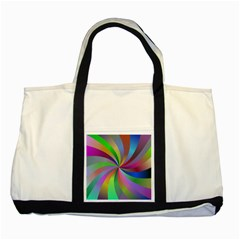 Spiral Background Design Swirl Two Tone Tote Bag by Celenk