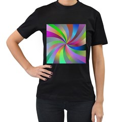 Spiral Background Design Swirl Women s T Shirt (black)