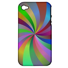 Spiral Background Design Swirl Apple Iphone 4/4s Hardshell Case (pc+silicone) by Celenk