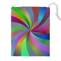 Spiral Background Design Swirl Drawstring Pouches (xxl)