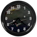 Space Travel Spaceship Space Wall Clocks (Black) Front