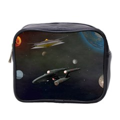 Space Travel Spaceship Space Mini Toiletries Bag 2 Side by Celenk