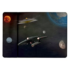 Space Travel Spaceship Space Samsung Galaxy Tab 10 1  P7500 Flip Case by Celenk