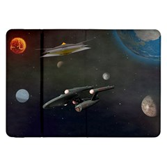 Space Travel Spaceship Space Samsung Galaxy Tab 8 9  P7300 Flip Case by Celenk