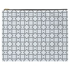 Square Line Stripe Pattern Cosmetic Bag (xxxl)  by Celenk