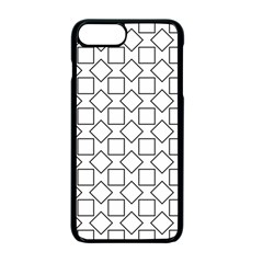 Square Line Stripe Pattern Apple Iphone 7 Plus Seamless Case (black)